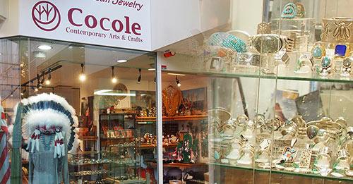 名古屋の星ヶ丘にあるインディアンジュエリーの販売ショップ cocoleの店舗